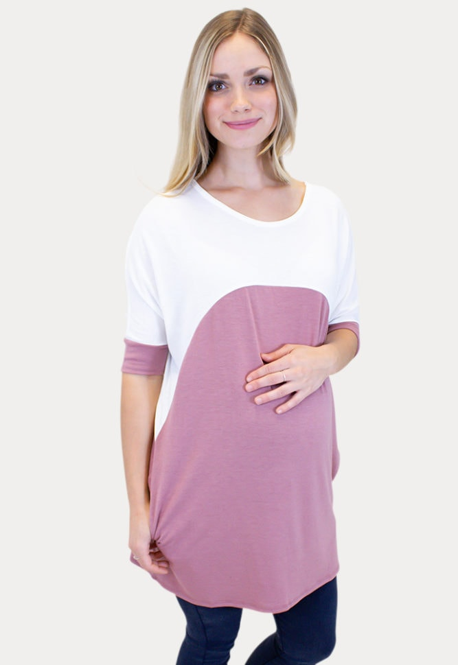 maternity tee with short sleeves