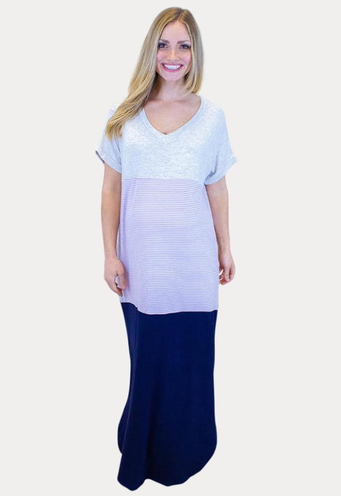 loose pregnancy maxi dress