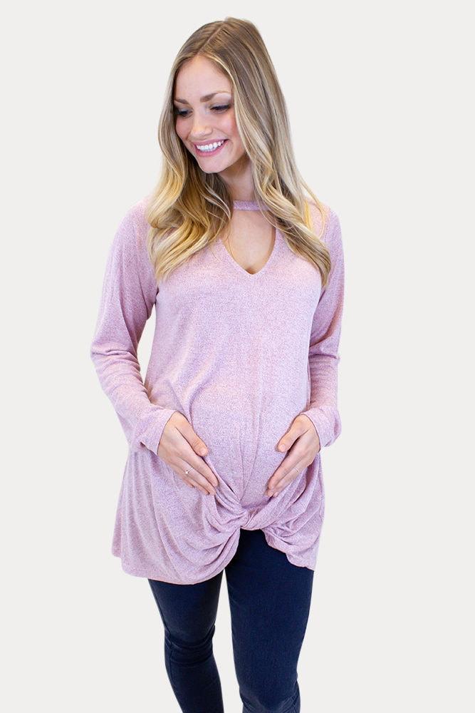 choker maternity top