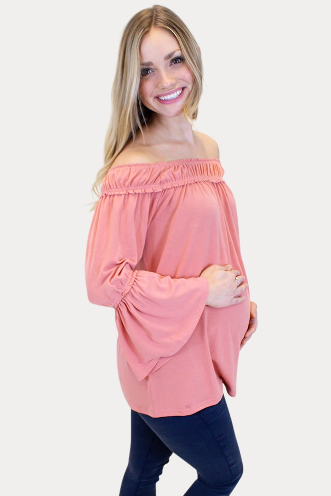 maternity top with bell sleeves