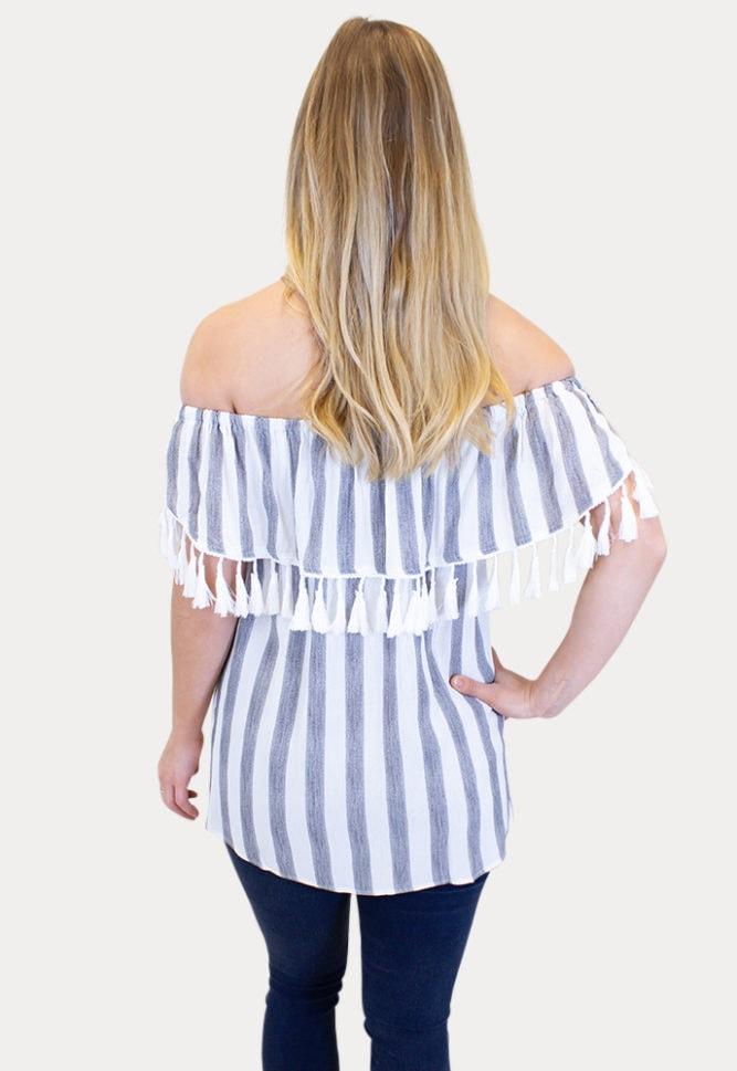 striped pregnancy top