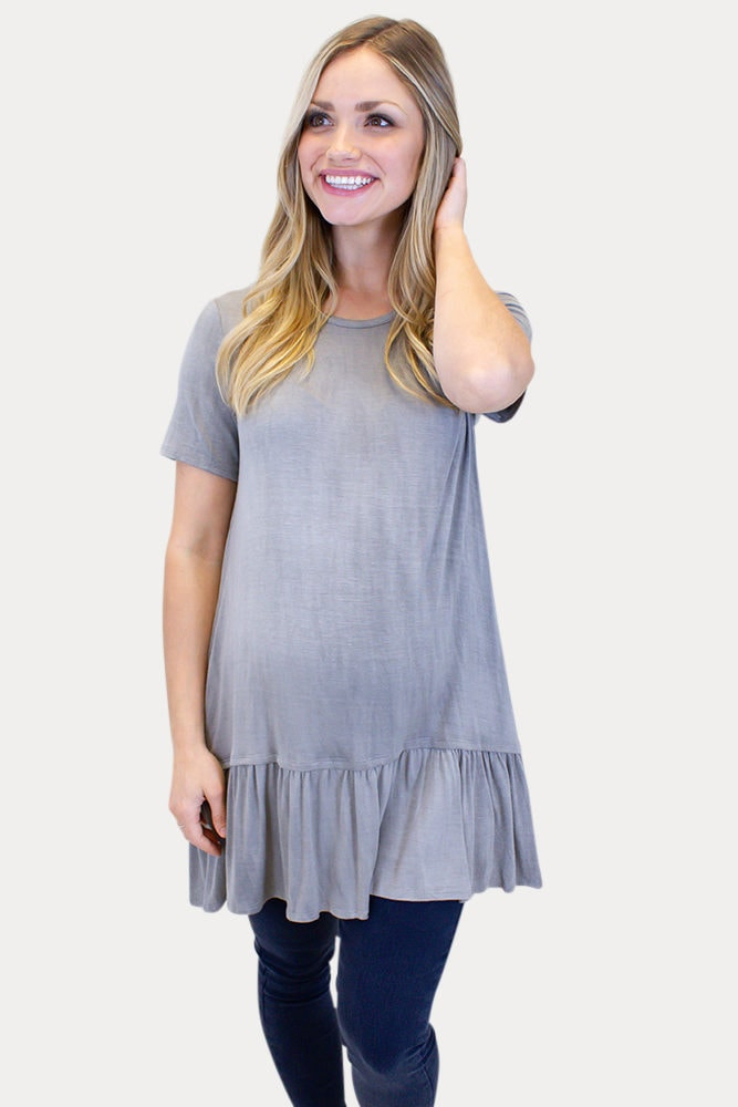 maternity tunic with short sleeves