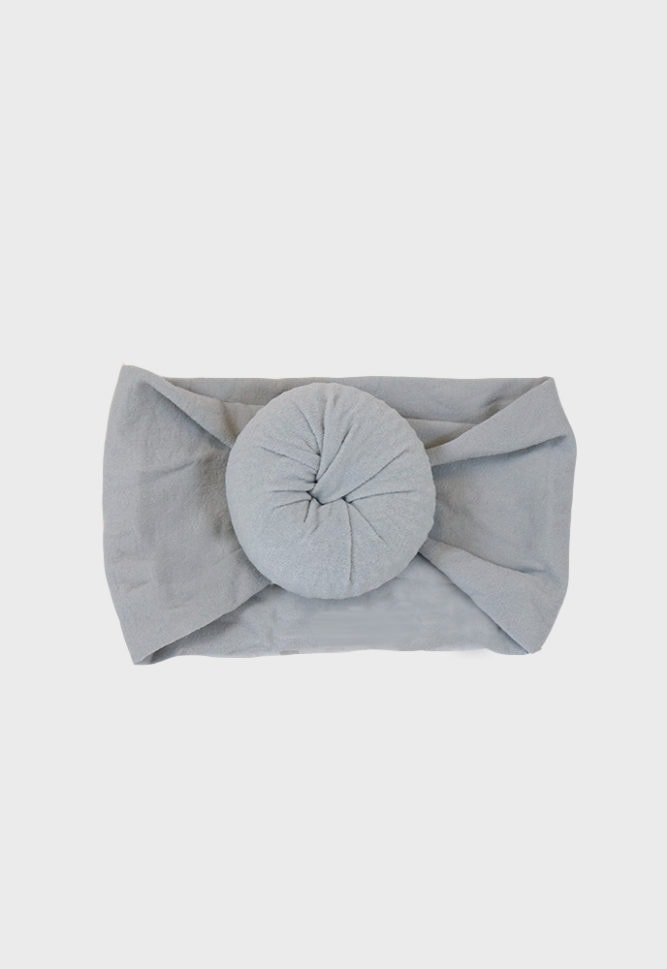 grey baby headband