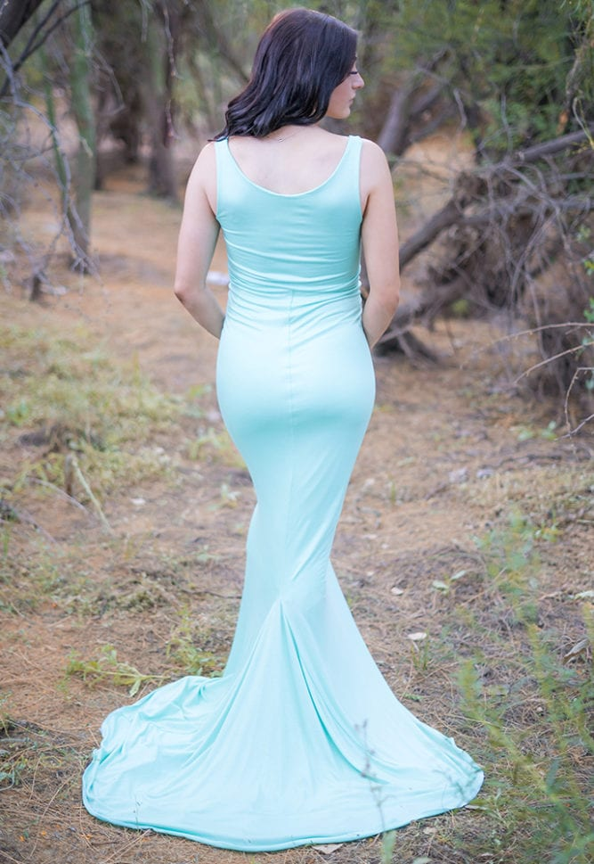 simple pregnancy gown
