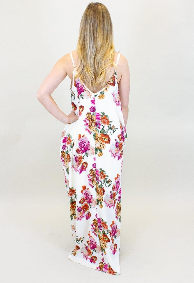 floral pregnancy maxi dress