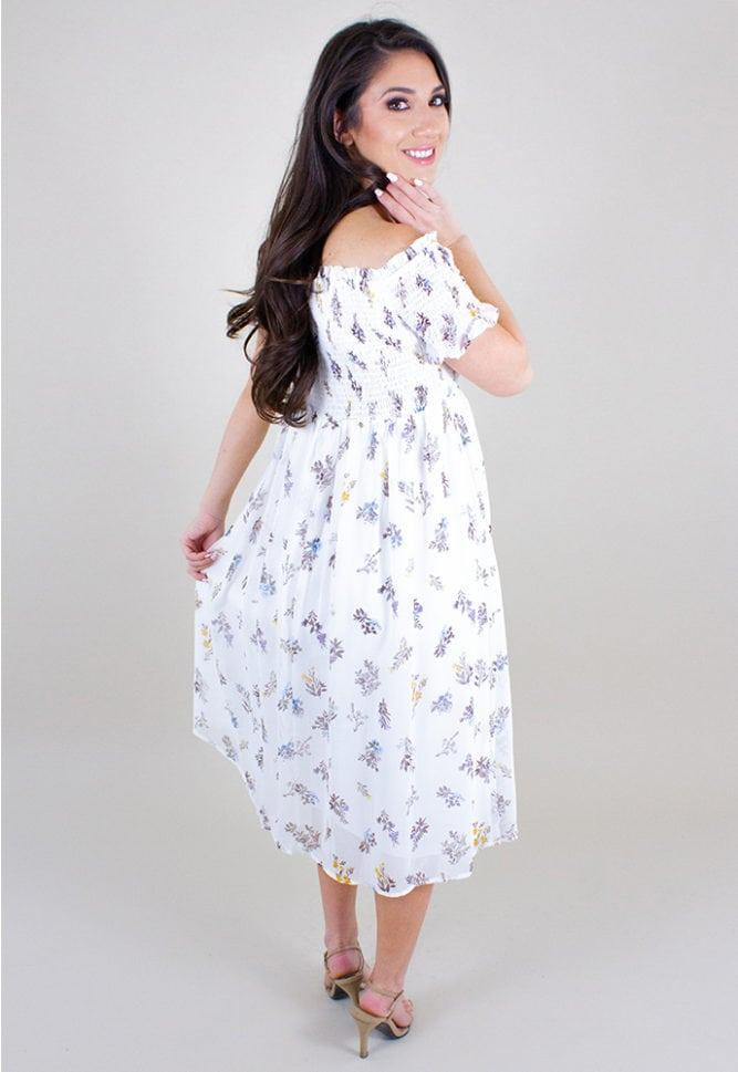 off the shoulder pregnancy dress