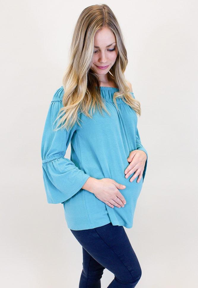 bell sleeve pregnancy top