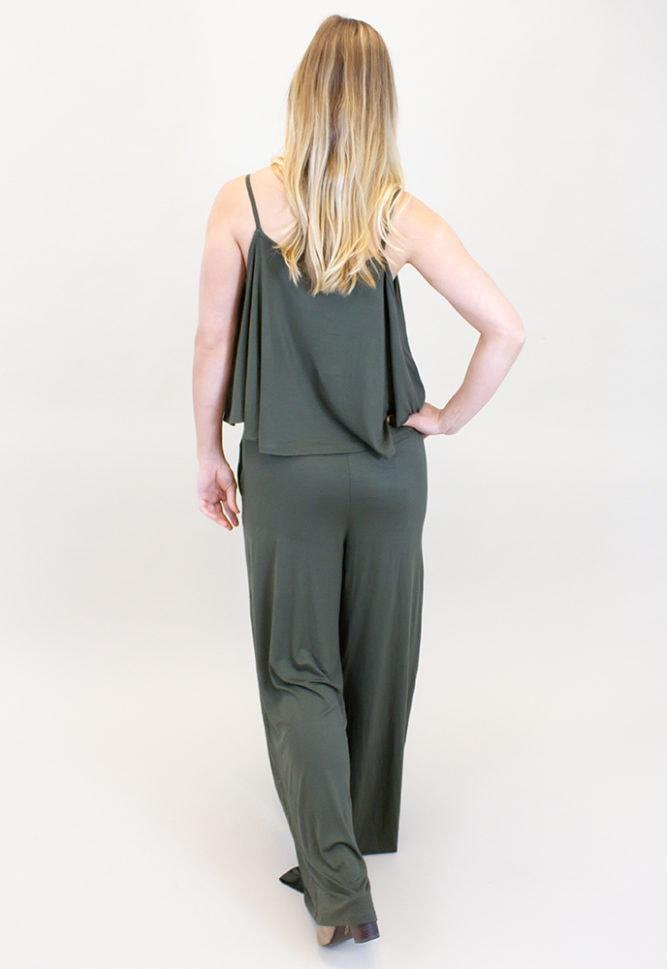 off the shoulder maternity jumpsuit