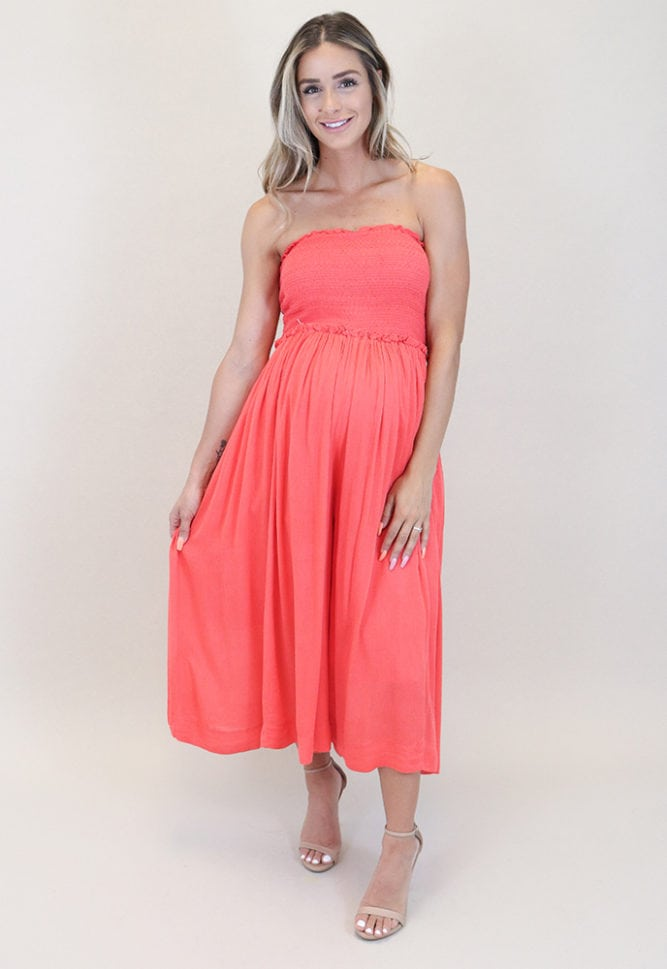 strapless maternity jumper