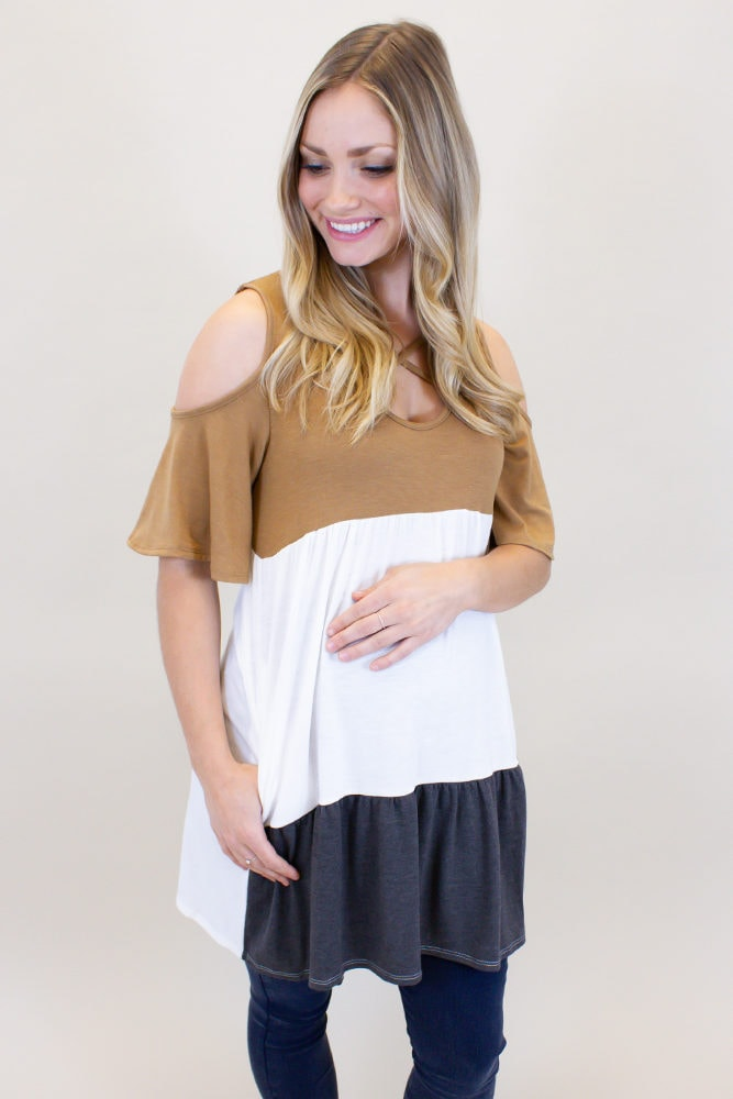 casual maternity top