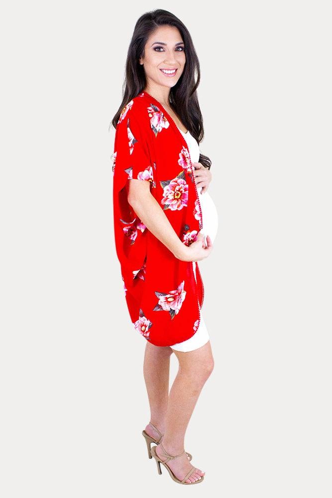 floral pregnancy kimono