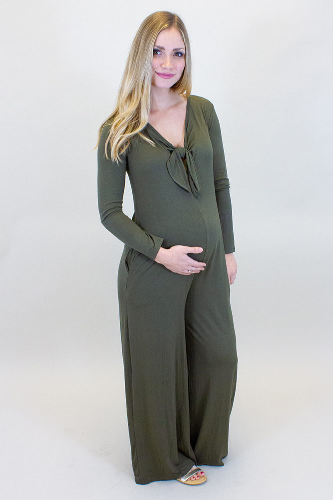 long sleeve maternity jumpsuit