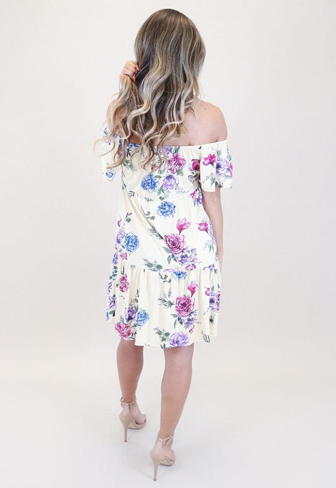 pregnancy mini dress with flowers