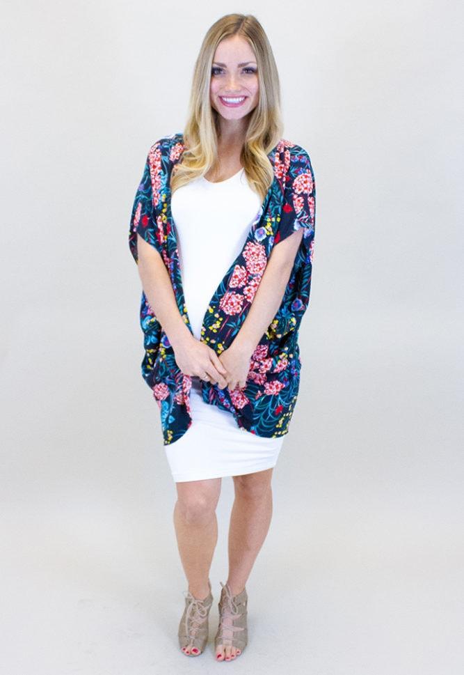 colorful maternity kimono