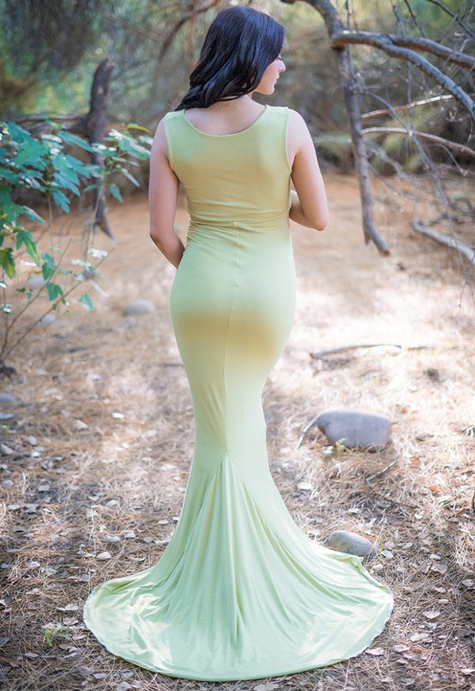 cowl neck maternity gown