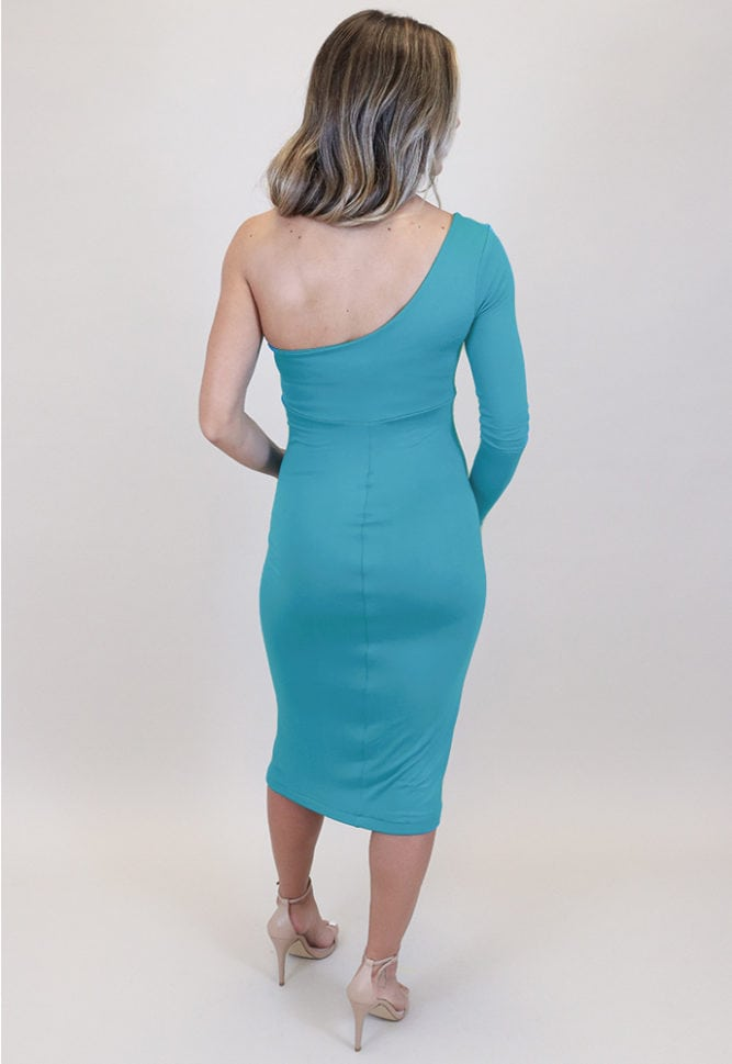 one arm maternity dress