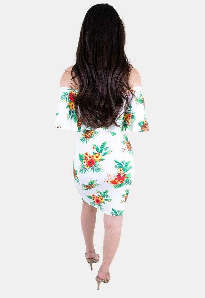 tropical babymoon dress