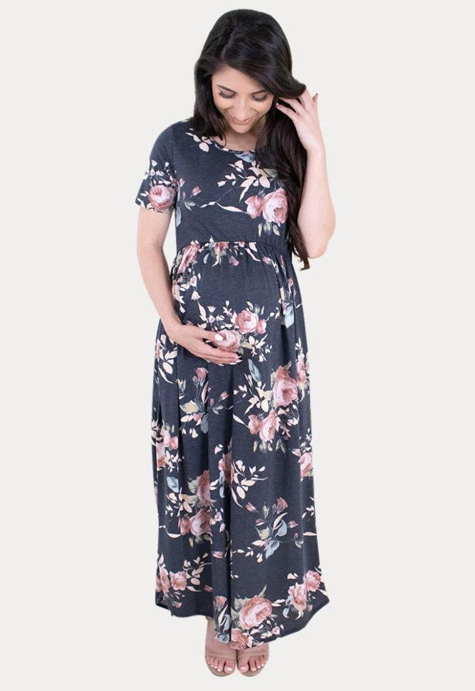 floral maternity maxi