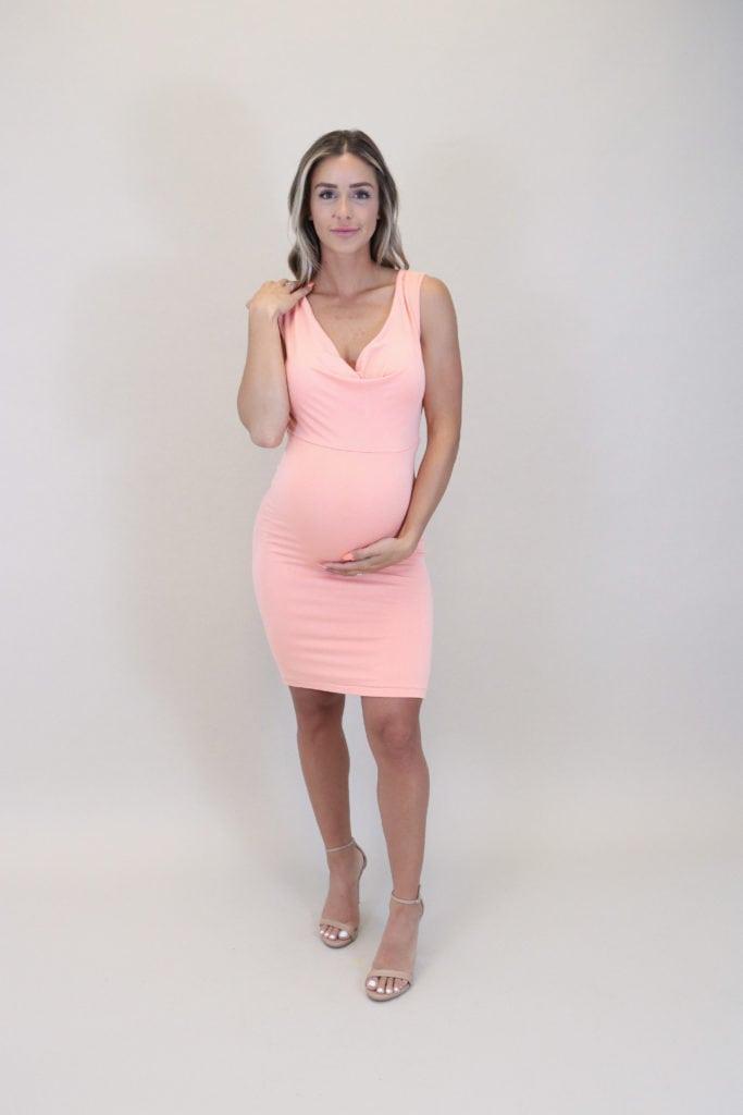 pastel maternity dresses