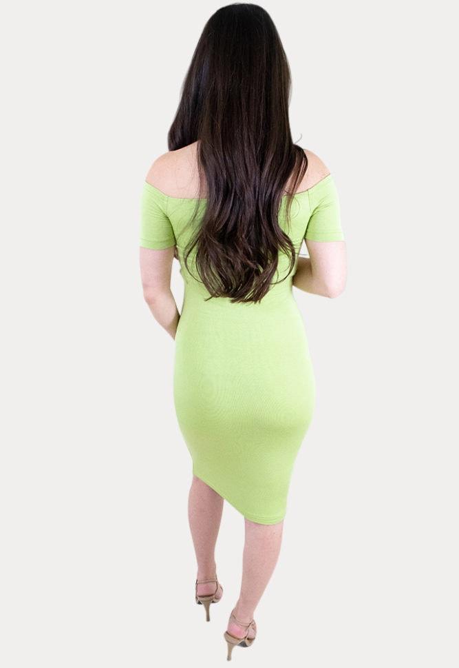 off the shoulder pregnancy midi dress