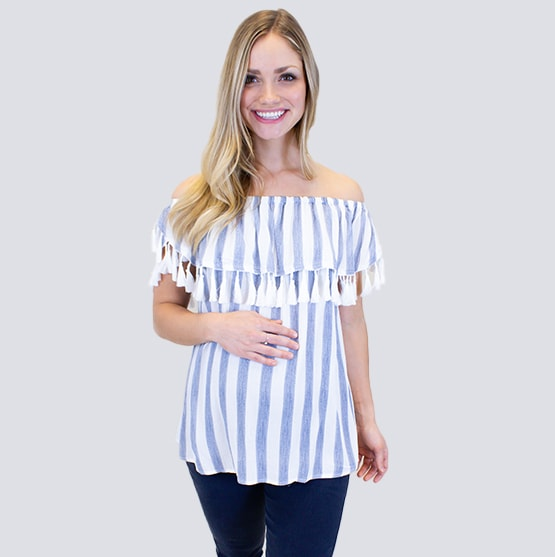 805c1835a9064 Trendy and Cute Maternity Tops - Sexy Mama Maternity