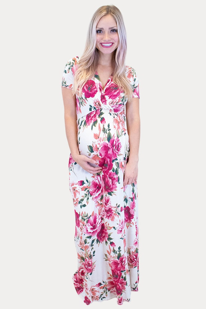 floral baby shower maxi