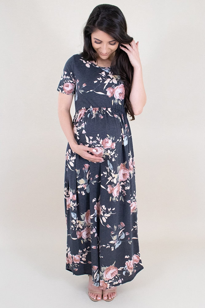 floral maternity maxi