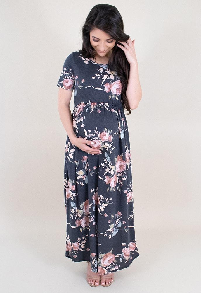 e6de0400047da Floral Maternity Maxi Dress - Sexy Mama Maternity