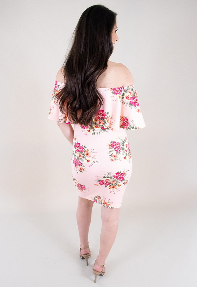pink bodycon maternity dress