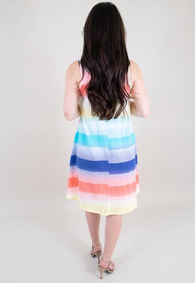 rainbow maternity dress