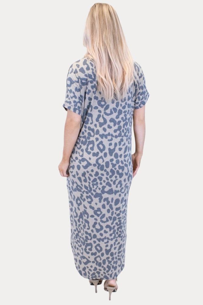 leopard maternity maxi