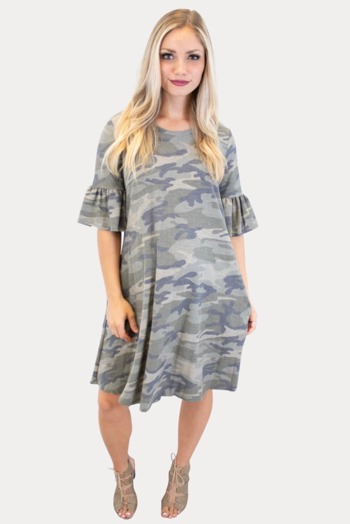 camo pregnancy dress