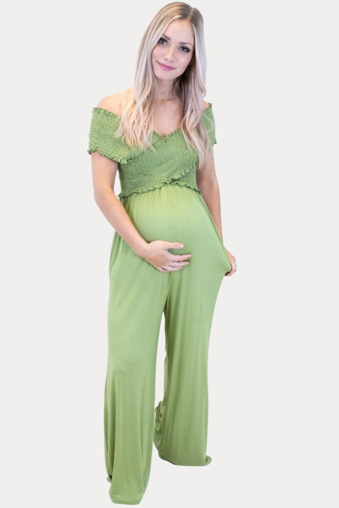 Spring maternity jumpsuit