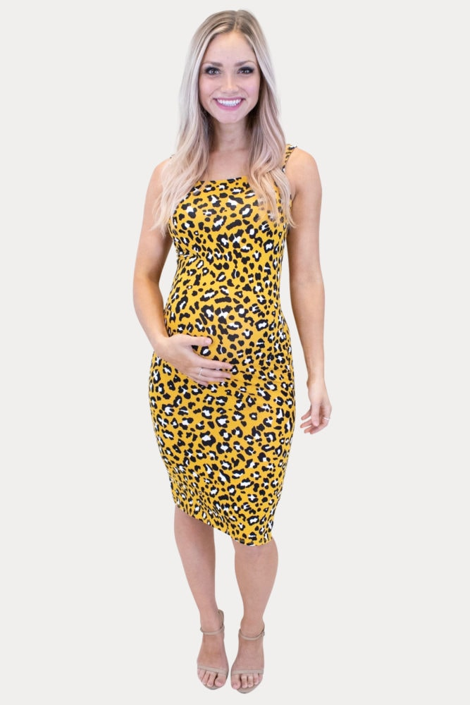 leopard pregnancy dress
