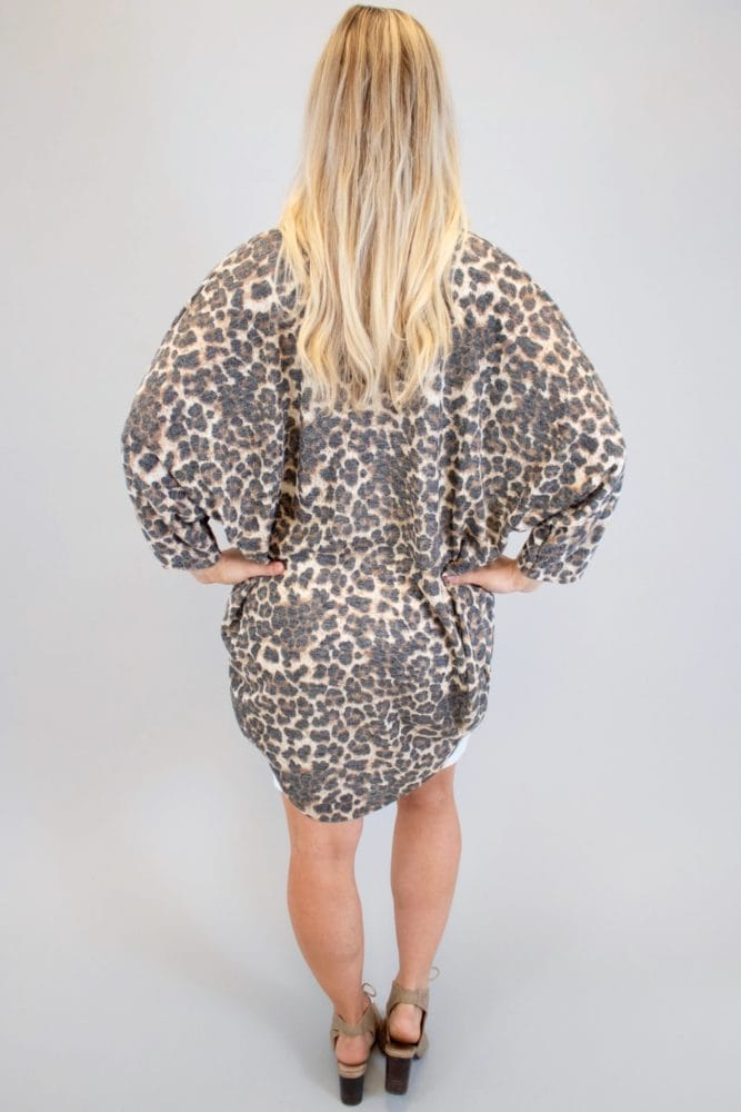 leopard maternity kimono