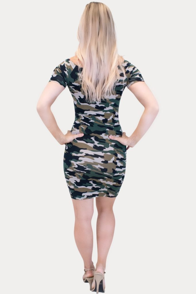 camo maternity bodycon