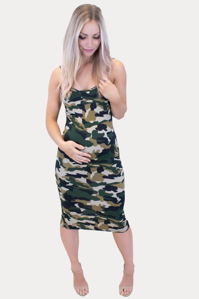 camo maternity dress