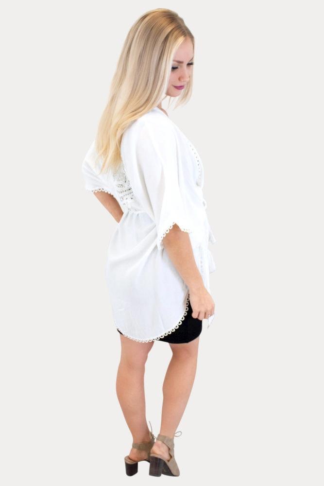 white pregnancy kimono