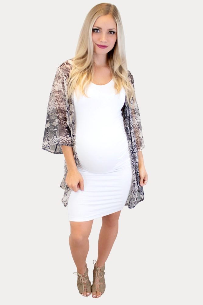 snake skin maternity kimono