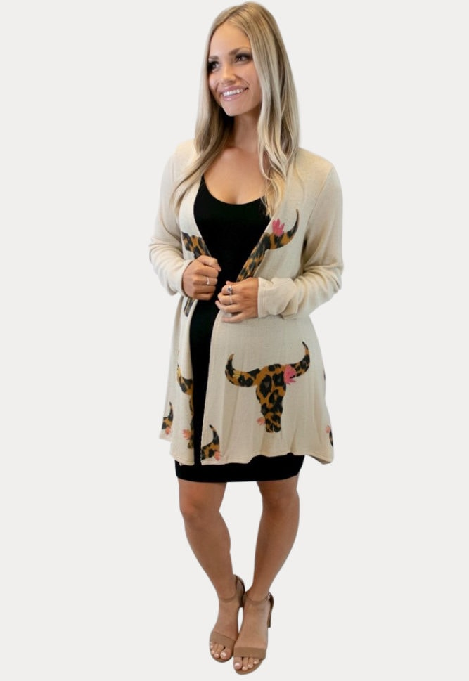 leopard bullhead maternity kimono
