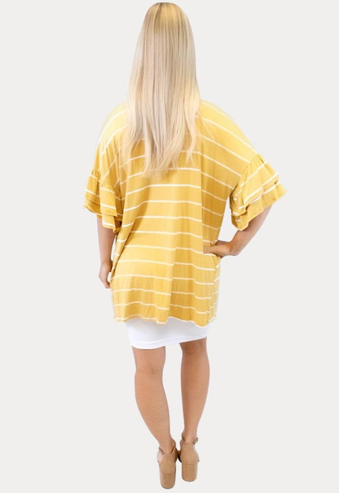 mustard maternity kimono