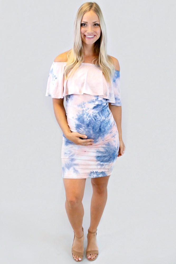 gender reveal bodycon dress