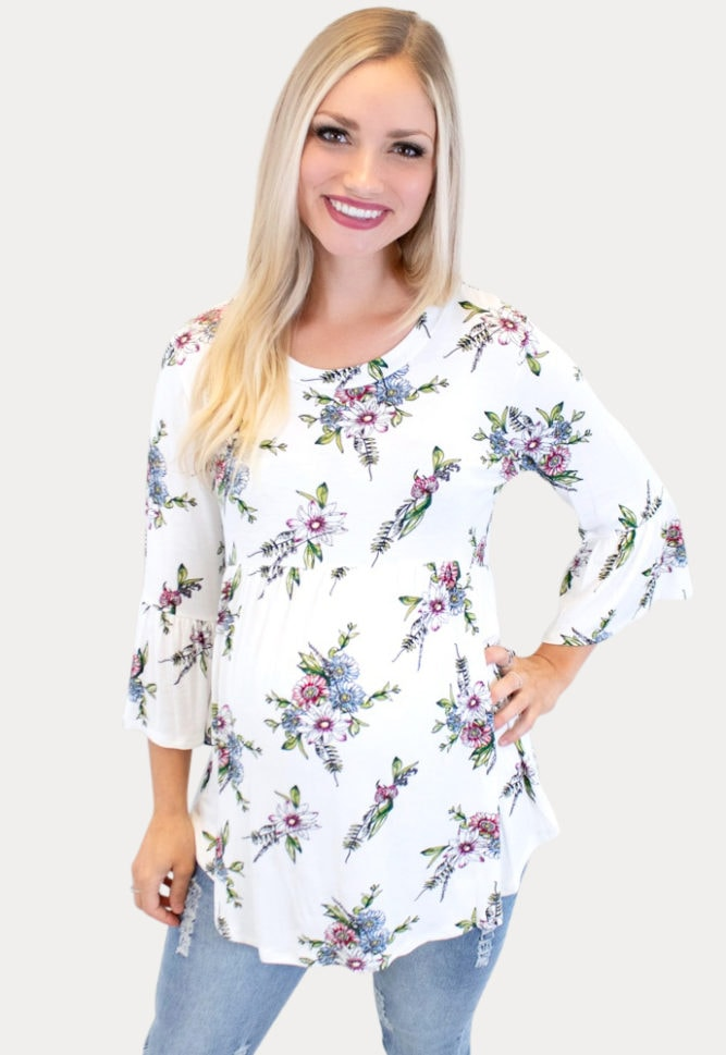 floral maternity tee