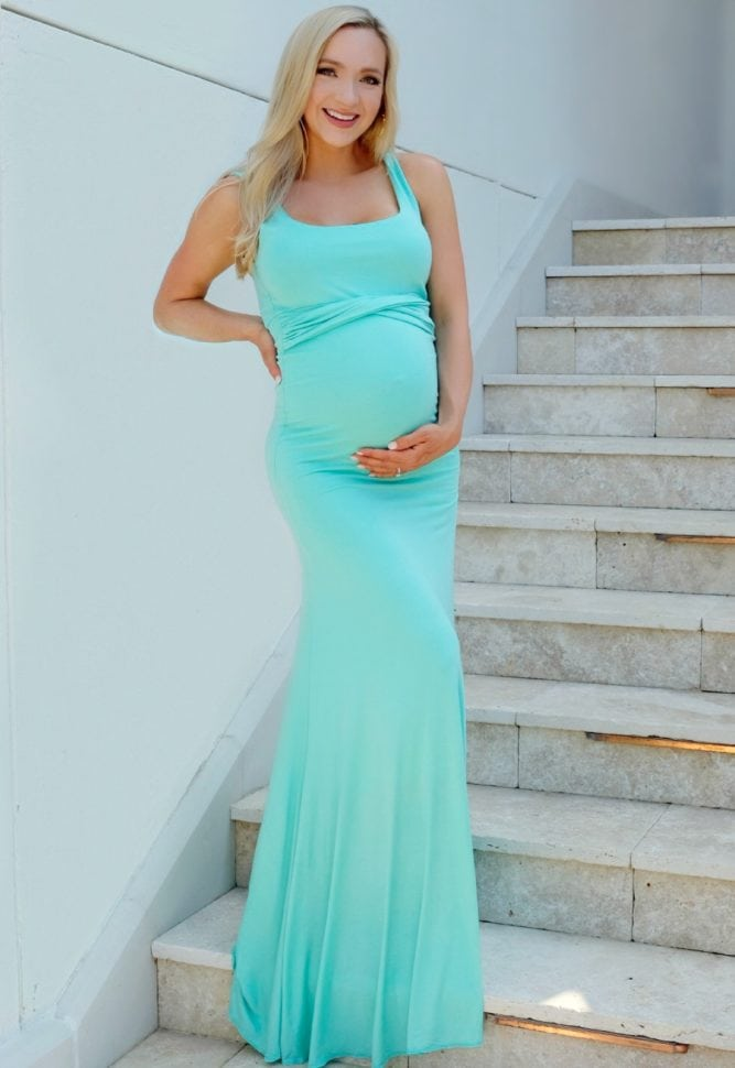 Flare Maternity Gown