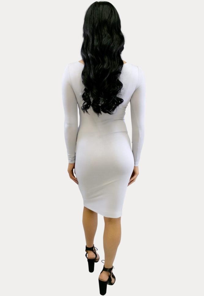 boat neck midi maternity dress