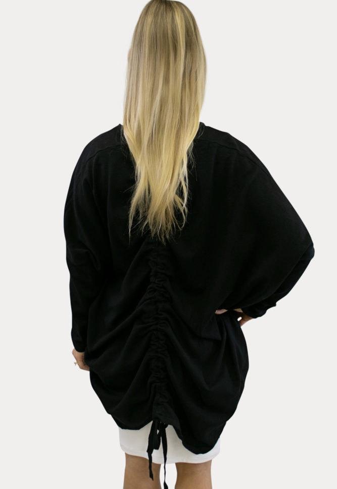black knit maternity kimono