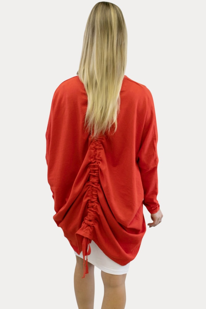 red maternity kimono