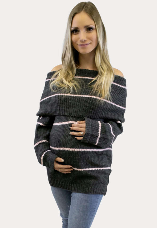 charcoal maternity sweater
