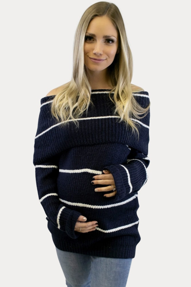 thick knit maternity sweater