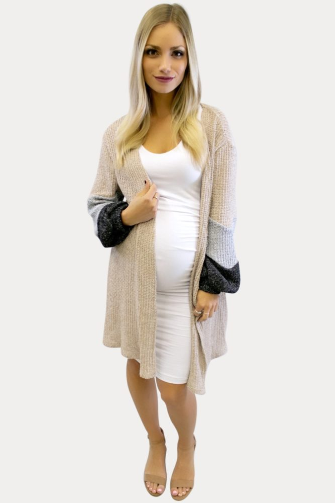 cream maternity cardigan